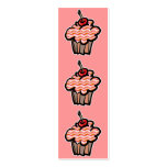 wavy lines cupcake bookmark business card