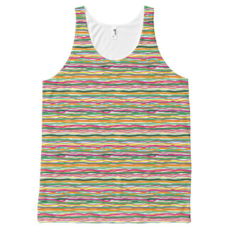 Wavy Lines Earth Tone Hippie All Over Print All-Over Print Singlet