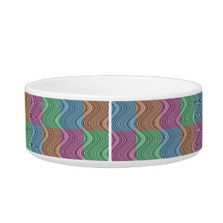 Wavy Lines in Blue/Brown/Green/Purple Bowl