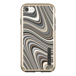 Wavy Lines - Light Brown/Sand/Beige/Coffee Incipio DualPro Shine iPhone 8/7 Case