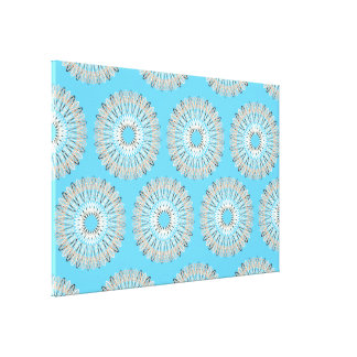 Wavy Lines pattern light blue Stretched Canvas Prints