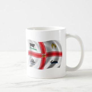 Wavy Melbourne Flag Coffee Mug