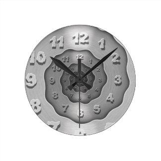 Wavy Metal Spiral Clock