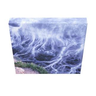 Wavy Ocean Canvas Print