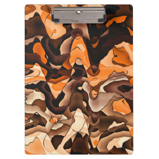 Wavy orange and brown clipboards