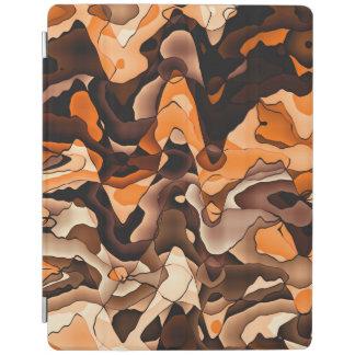 Wavy orange and brown iPad cover