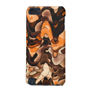 Wavy orange and brown iPod touch (5th generation) covers
