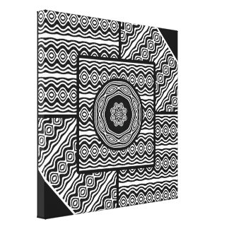 Wavy panels canvas print