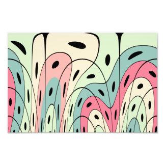 Wavy pastel shapes art photo