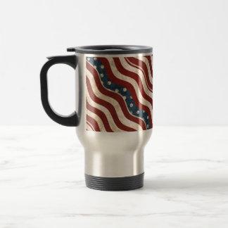 Wavy Patriotic Pattern Travel/Commuter Mug