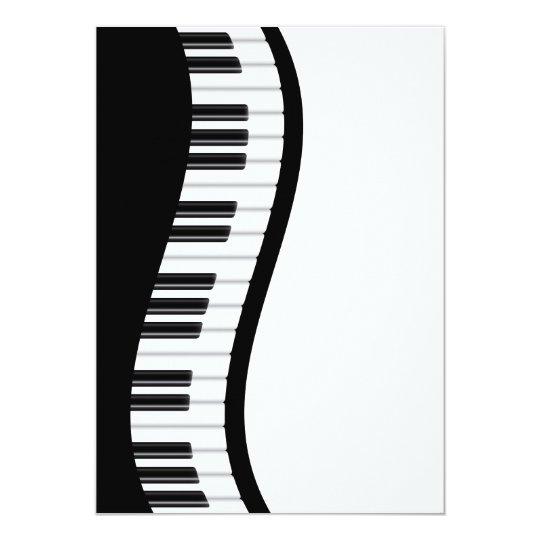 Wavy Piano Keyboard Invitation Card | Zazzle.com.au