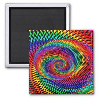 Wavy Rainbow Fractal  Magnet