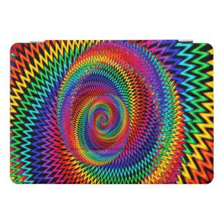 Wavy Rainbow Spiral Fractal Ipad Case
