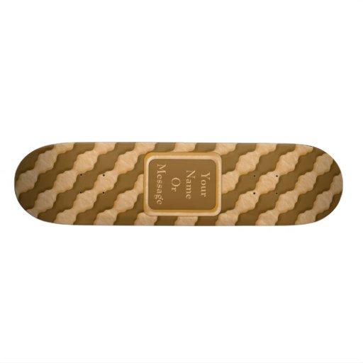 Wavy Ripples - Chocolate Peanut Butter Skate Decks