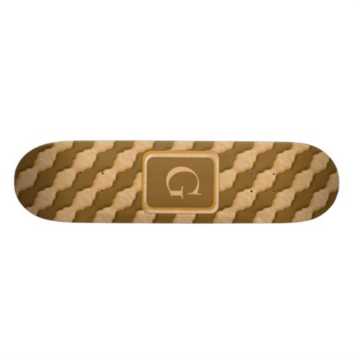 Wavy Ripples - Chocolate Peanut Butter Skate Boards