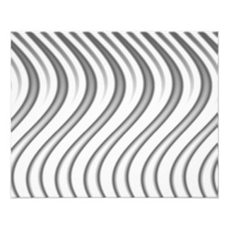 wavy silver flames pattern photographic print