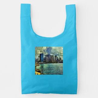 Wavy skyline of Sydney Baggu Reusable Bag