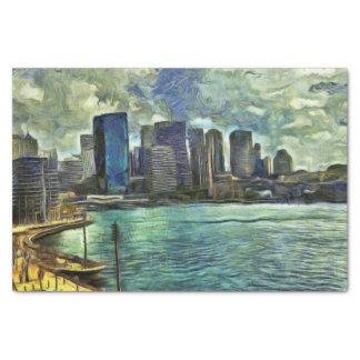 Wavy skyline of Sydney Tissue Paper