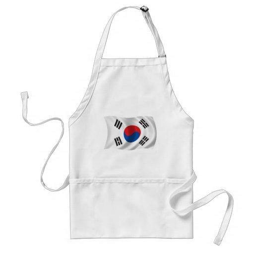 Wavy South Korea Flag Aprons