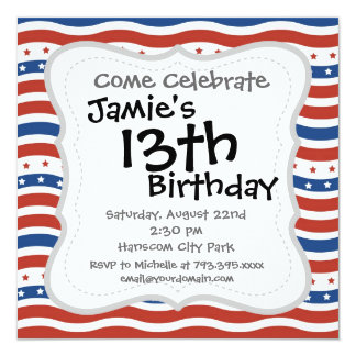 Wavy Stars and Stripes Pattern Card