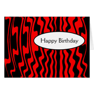 Wavy Stripe - Red and Black Cards