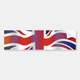Wavy UK Bumper Sticker