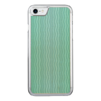 Wavy Vertical Stripes Turquoise Aquamarine Carved iPhone 8/7 Case
