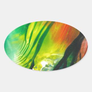 Wax Art 0001 Oval Sticker