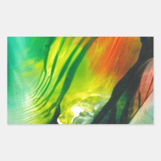 Wax Art 0001 Rectangular Sticker