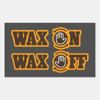 Wax On - Wax Off Rectangular Sticker
