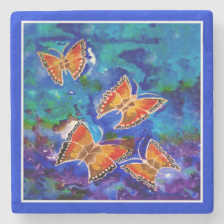 Wax Relief Butterfly Coaster Stone Coaster