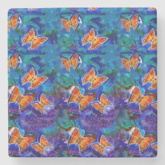 Wax Relief Butterfly Pattern Coaster Stone Coaster