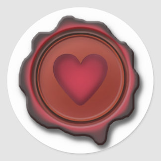WAX SEAL HEART by SHARON SHARPE Classic Round Sticker