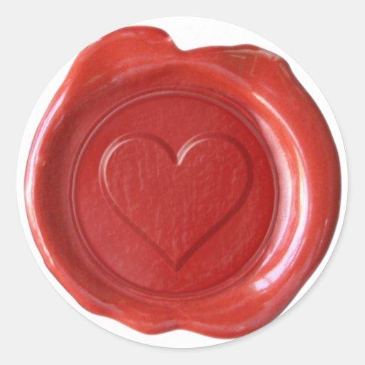 Wax Seal Monogram - Red Heart - Sticker