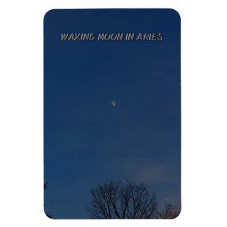 Waxing Moon In Aries Rectangular Photo Magnet