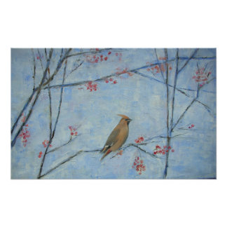 Waxwing 2013 oil on canvas poster