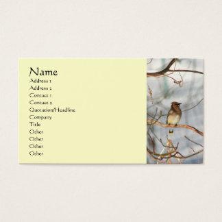 Waxwing Bird In Winter Animal Business Card