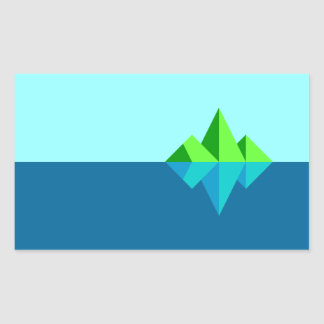 Waxwing Island Rectangular Sticker