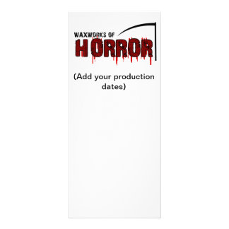 Waxworks of Horror Bookmark Rack Card Design