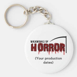 Waxworks of Horror Memento Basic Round Button Key Ring
