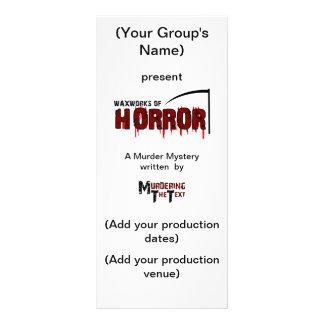 Waxworks of Horror Programme Customised Rack Card
