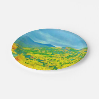 Way Above the Mountains Air Brushed 7 Inch Paper Plate