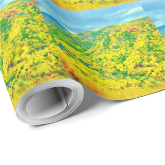 Way Above the Mountains Air Brushed Gift Wrapping Paper