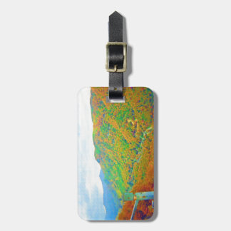 Way Above the Mountains in Watercolors Tag For Bags
