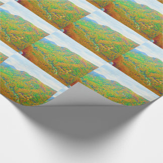 Way Above the Mountains Watercolors Gift Wrap Paper