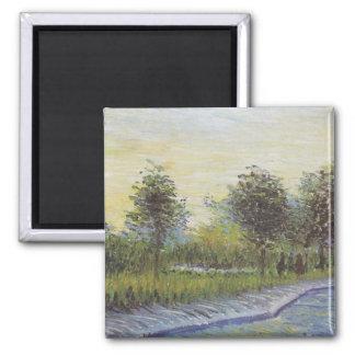 Way in the Voyer d'Argenson Park - Van Gogh (1887) Refrigerator Magnet