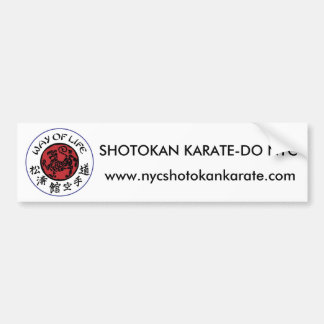 Way Of Life Shotokan Bumper Sticker