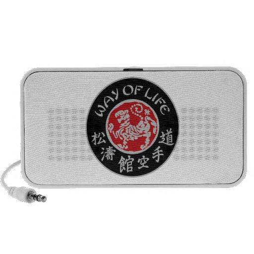 Way Of Life Shotokan Doodle Speaker Dark Logo