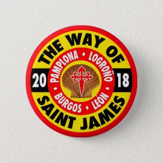 Way of Saint James 2018 6 Cm Round Badge