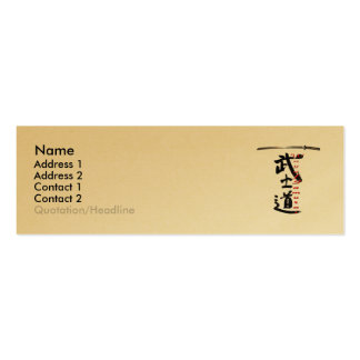 Way Of Samurai Profile Card Pack Of Skinny Business Cards